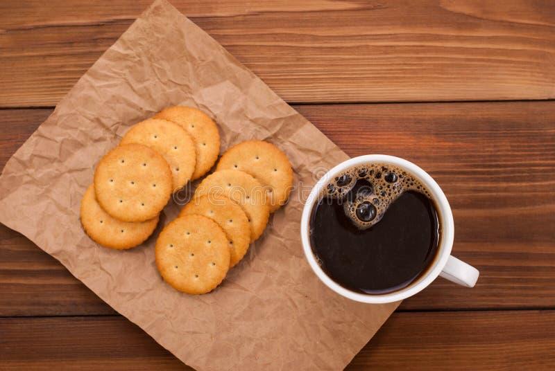 Tasse de café et de biscuits photos libres de droits