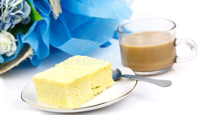 Tasse de café et de boulangerie images stock