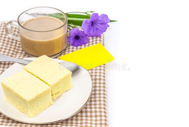 Tasse de café et de boulangerie image stock