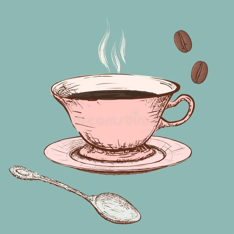 Tasse de café Image de griffonnage illustration libre de droits
