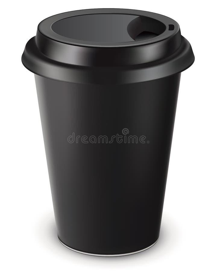 Tasse de café jetable. Illustration de vecteur illustration stock