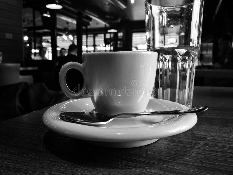 Tasse de café, restaurant, méditerranéen, Grèce, photographie stock