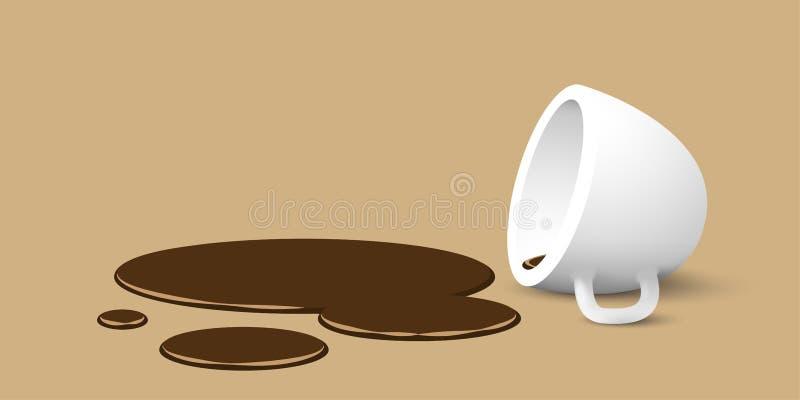 Tasse de café retournée illustration stock