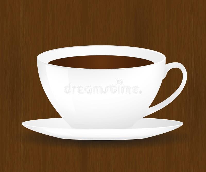 Tasse de café sur une surface en bois illustration libre de droits
