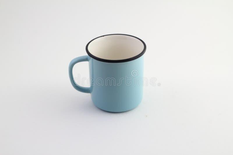 Tasse de café vide d'isolement sur le fond blanc photographie stock