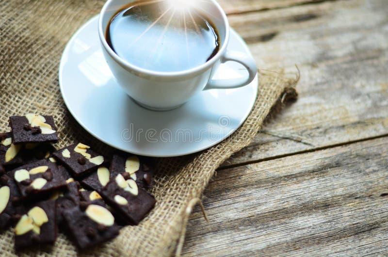 Tasse de caf? et de biscuits savoureux Temps de th? et concept de petit d?jeuner photo libre de droits
