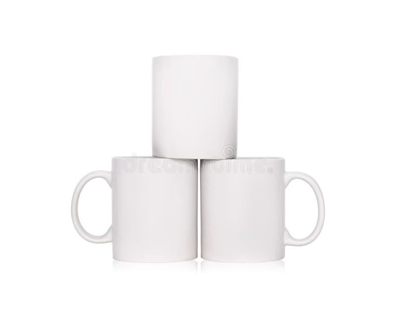 Tasse de caf? vide d'isolement sur le fond blanc Calibre de tasse de boissons pour votre conception Chemins de coupure ou couper  photo stock