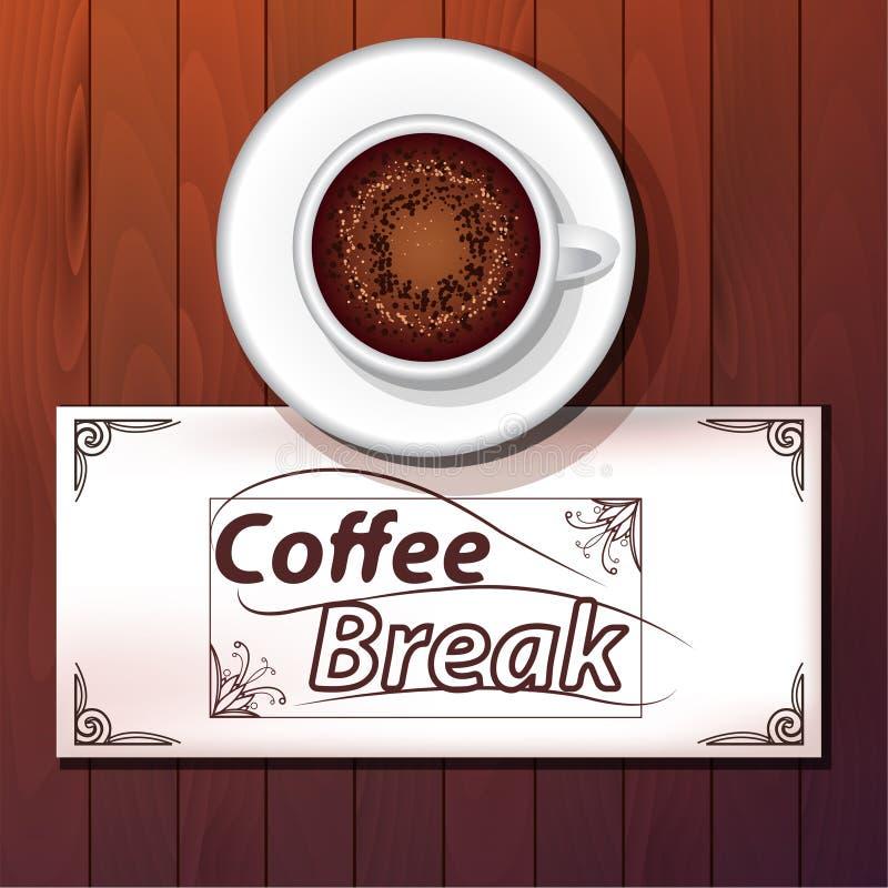 Tasse de cappuccino, pause-café illustration de vecteur