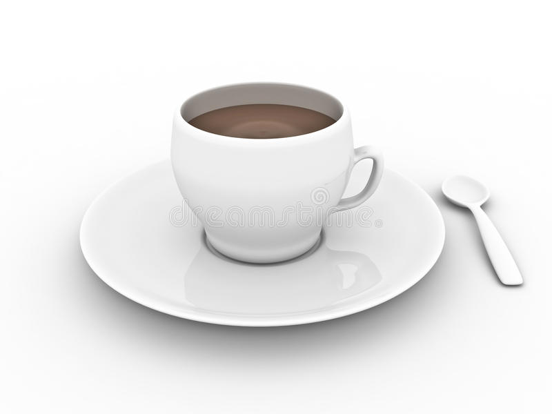Tasse de chocolat illustration stock
