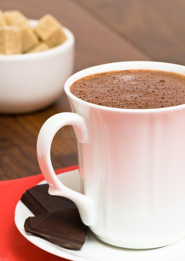 Tasse de chocolat chaud images stock