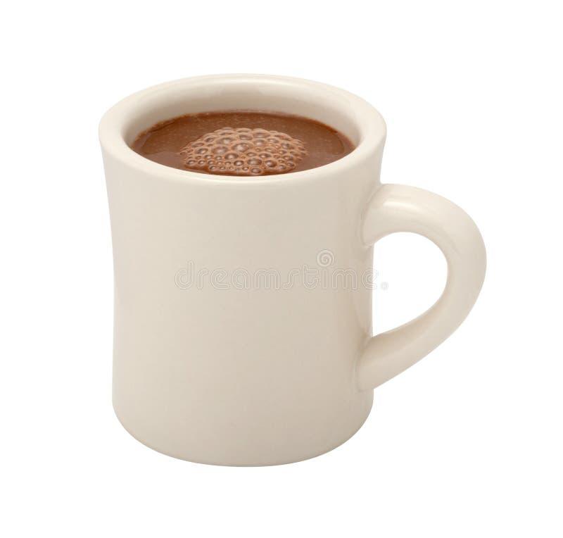 Tasse de chocolat chaud d'isolement photos libres de droits