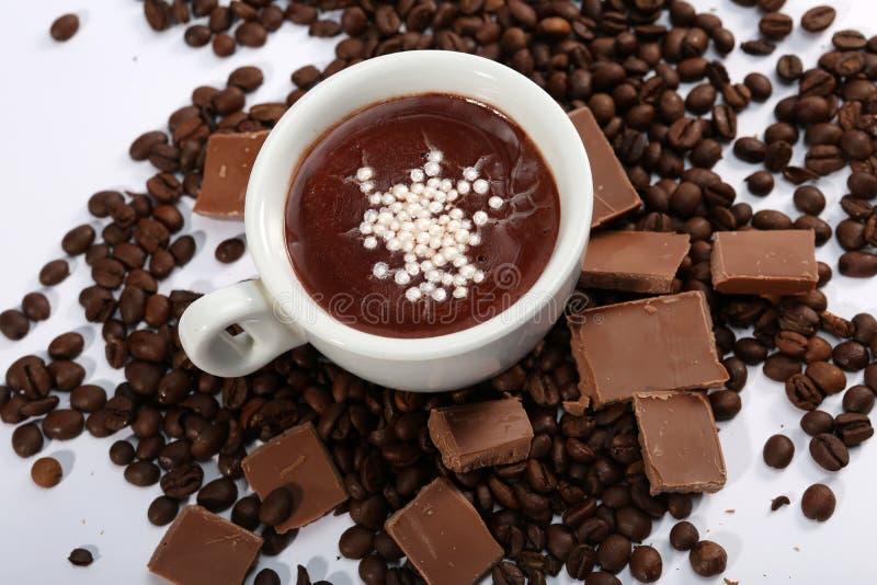 Tasse de chocolat chaud, vue d'en haut photographie stock