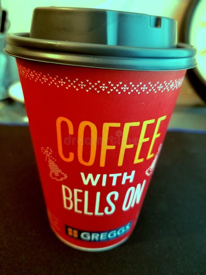 Tasse de Coffe de Noël de Greggs photo stock