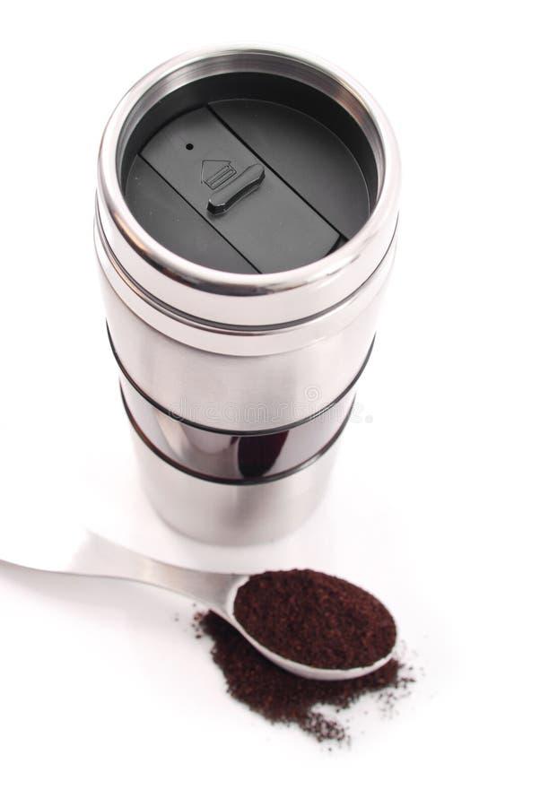 Tasse de course de café photographie stock libre de droits