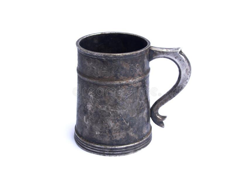 Tasse de fer de bière de vintage photos libres de droits