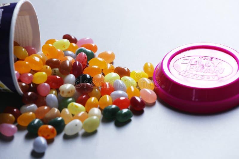 Tasse de Jelly Bean FacÂtoÂry de détaillant néerlandais Albert Heijn, d'isolement images libres de droits