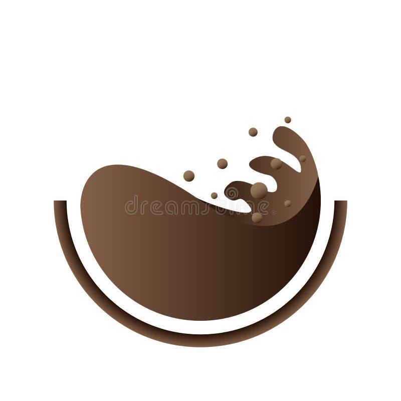 Tasse de logo de café illustration libre de droits