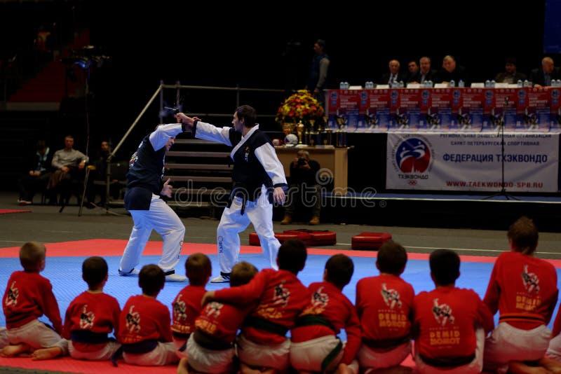 Tasse de mer baltique de festival d'arts martiaux à St Petersburg, Russie image stock