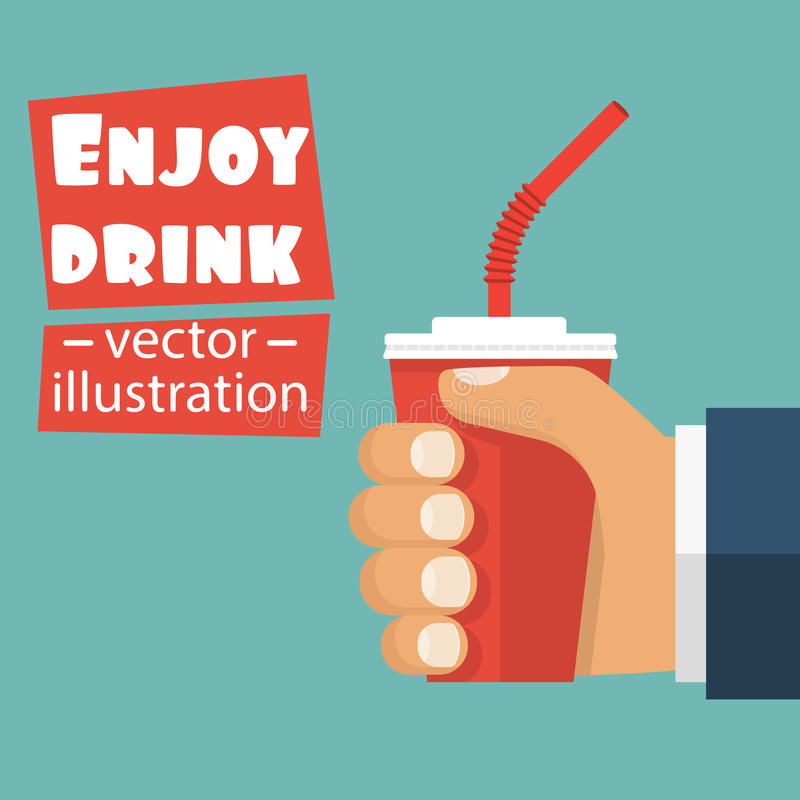 Tasse de papier rouge illustration stock