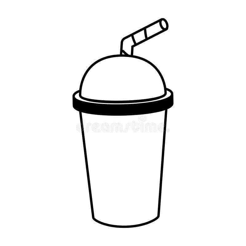 Tasse de soude avec la paille illustration stock