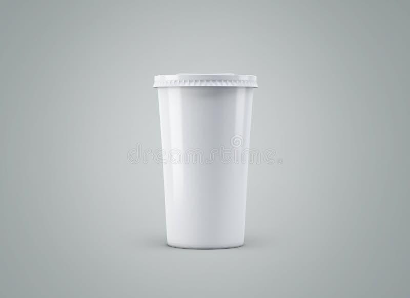 Tasse de soude Tasse de papier sur le fond Grande tasse de carton de boissons à aller maquette illustration libre de droits