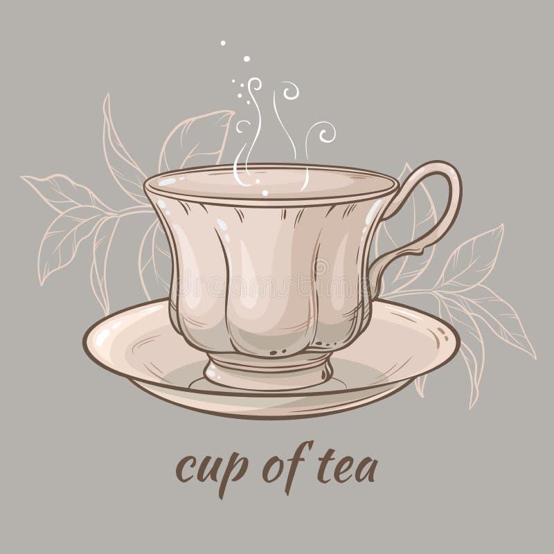 Tasse de thé illustration libre de droits