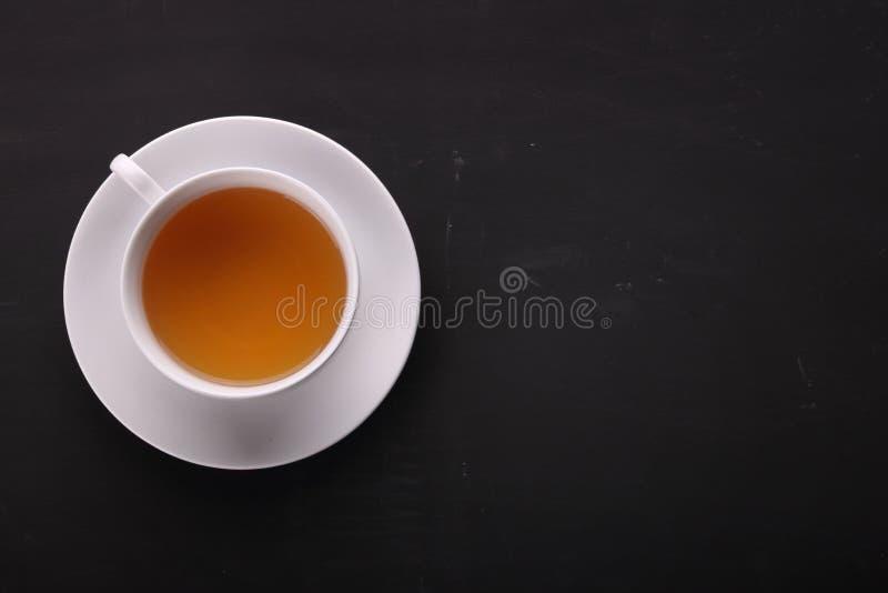 Tasse de thé aérienne avec le copyspace image stock
