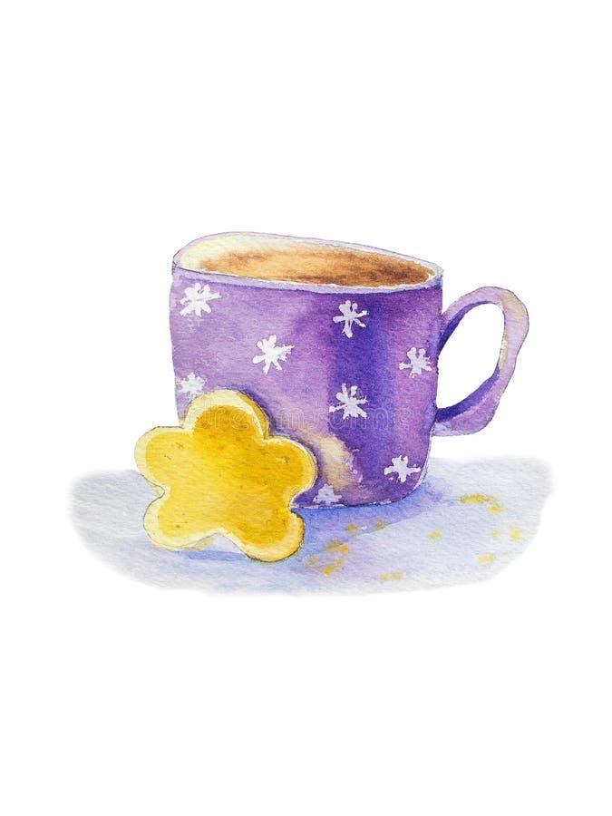 Tasse de thé et de biscuit illustration libre de droits