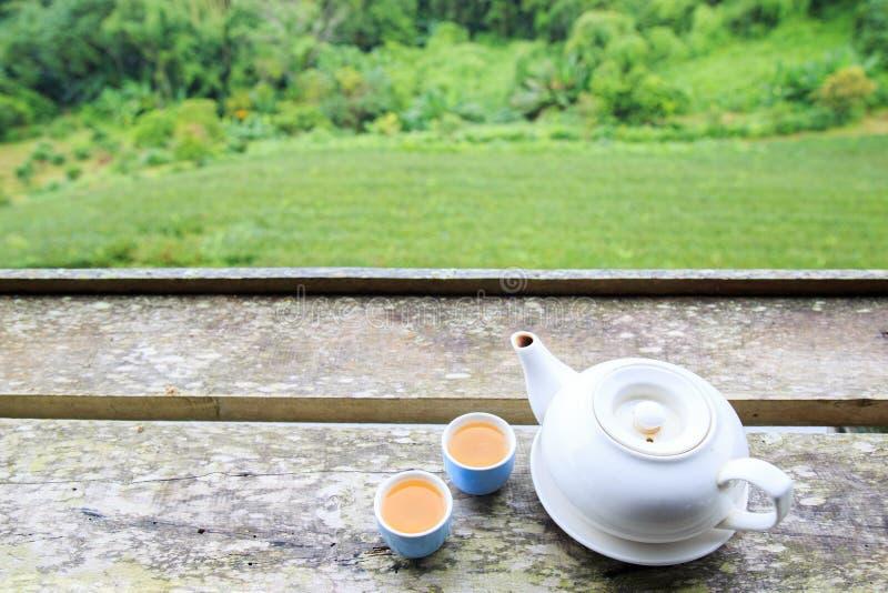 Tasse de thé et pot de thé images stock
