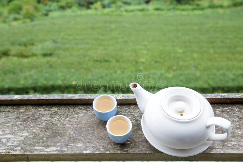 Tasse de thé et pot de thé image stock