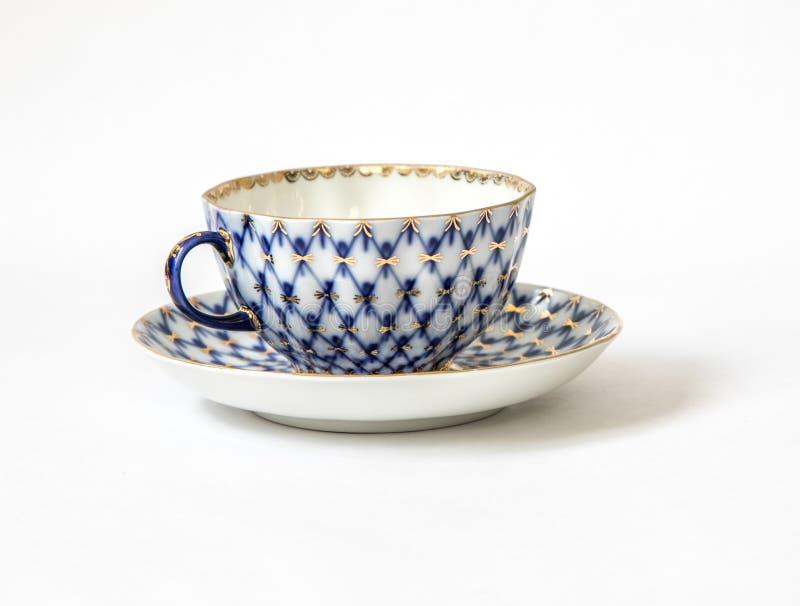 Tasse de thé et une soucoupe photographie stock