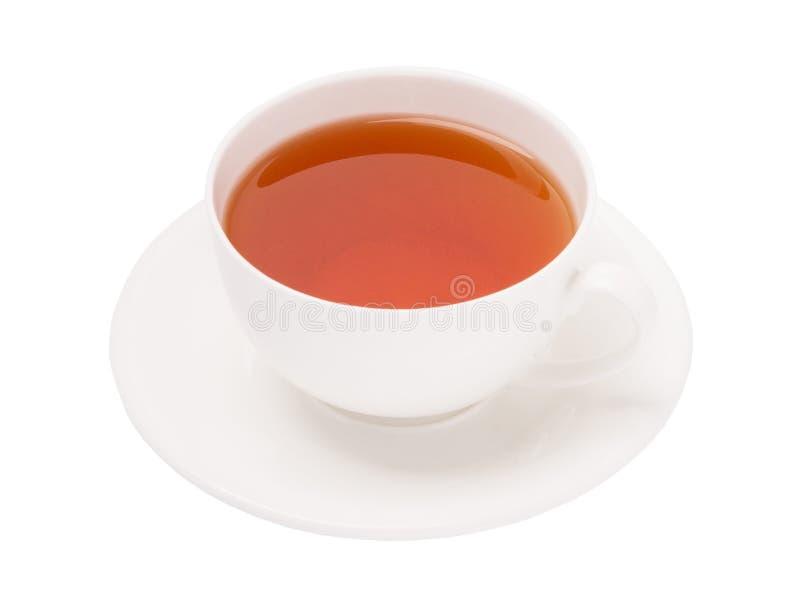 Tasse de thé noir sur le fond blanc photographie stock libre de droits