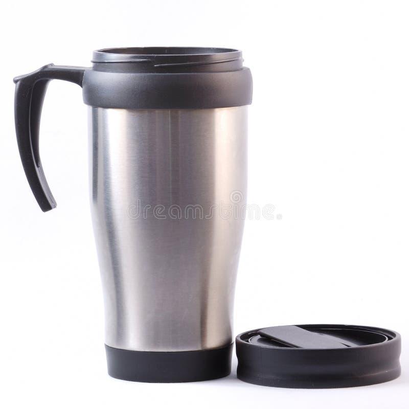 Tasse de thermos de café images stock