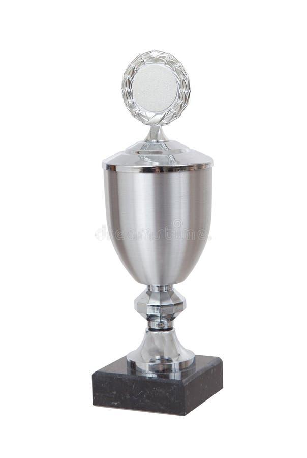 Tasse de trophée d'isolement photo stock