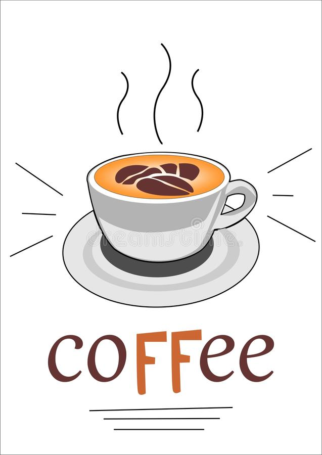 Tasse de vecteur de Latte de café photos libres de droits