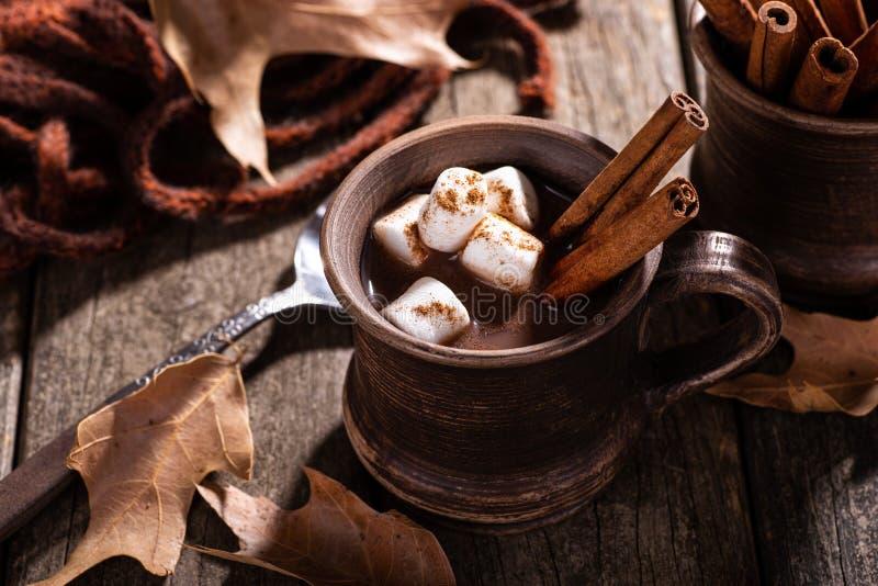 Tasse de vintage de chocolat chaud photos stock