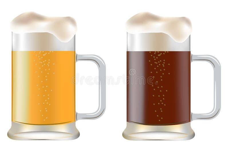 Tasse deux de bière photo libre de droits