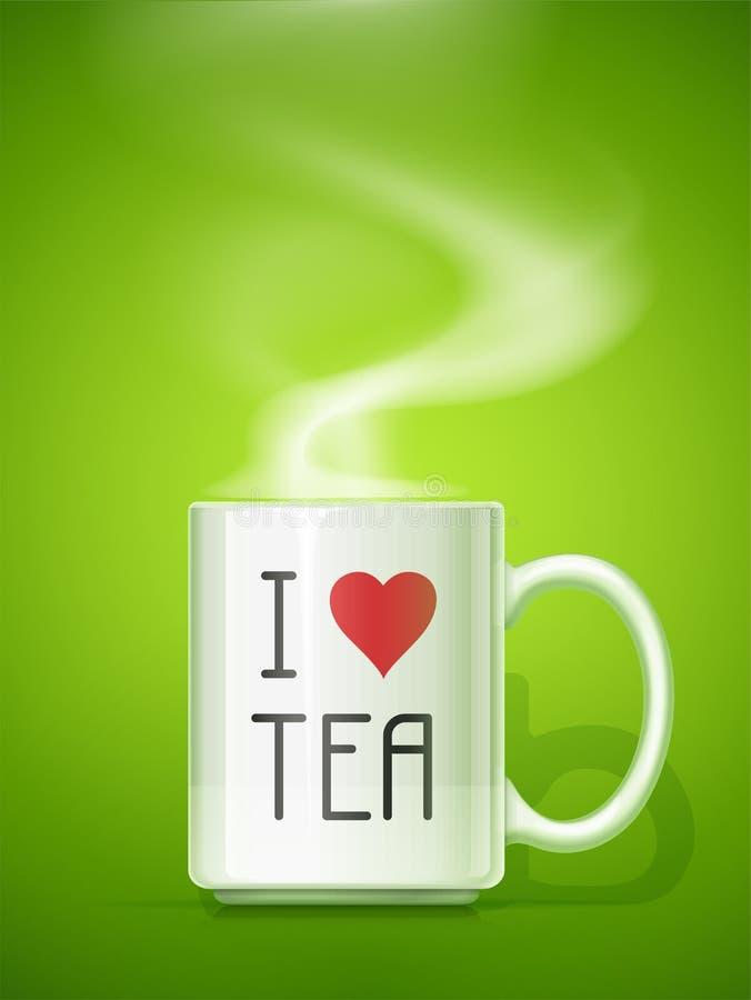 Tasse en céramique pour le thé illustration stock