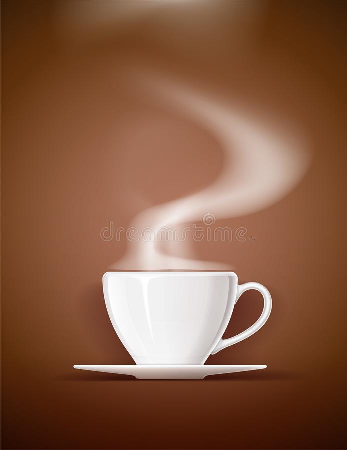Tasse en céramique pour le thé, le café et la boisson illustration stock