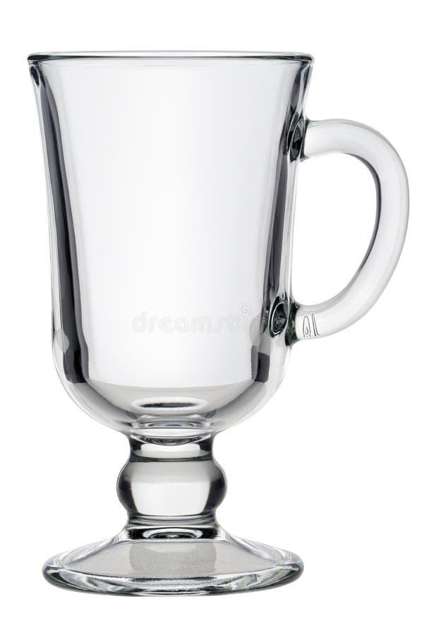 Tasse en verre de thé ou de café images libres de droits