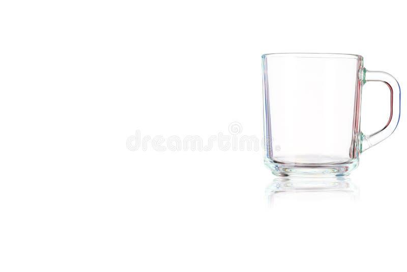 Tasse en verre vide images stock