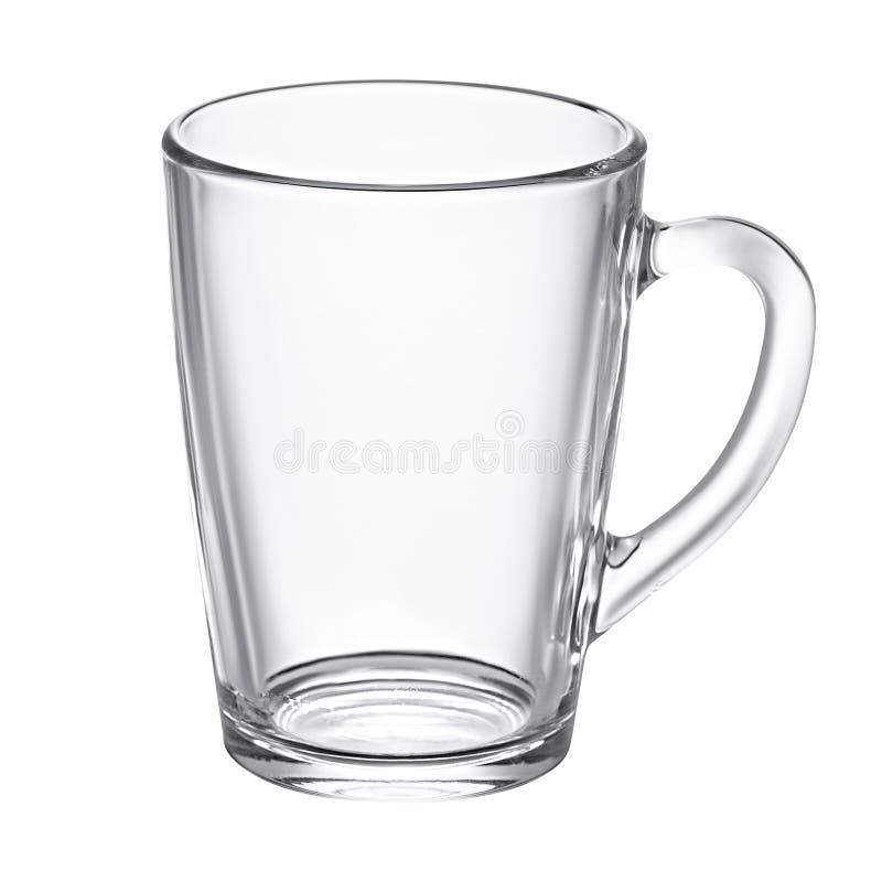 Tasse en verre vide pour le thé image stock