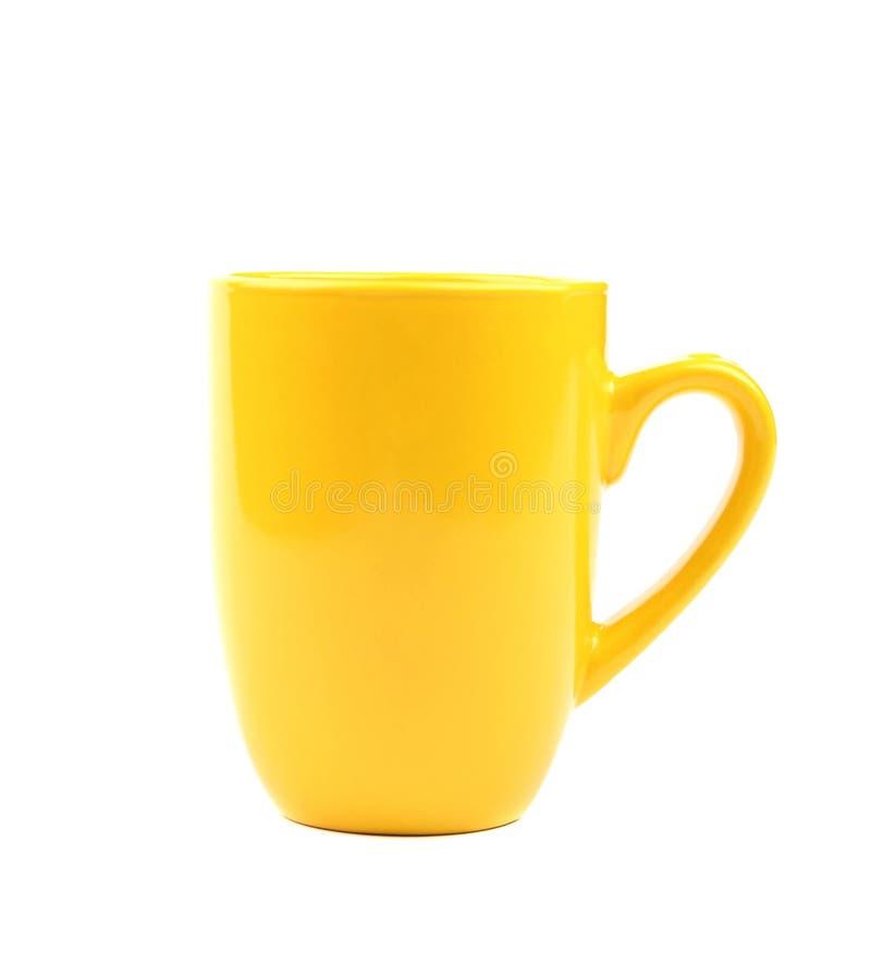 Tasse jaune. Fin. image stock