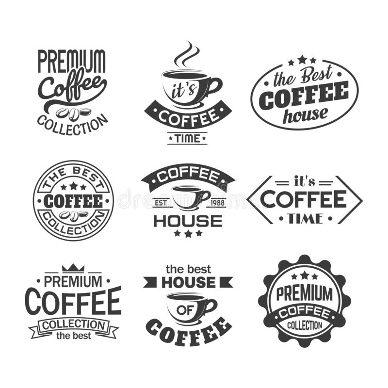 Tasse Kaffee für Geschäfts- oder Speicherzeichen, Cafeteria lizenzfreie abbildung