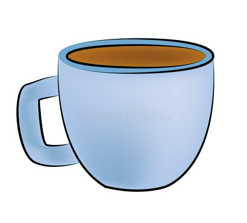 Tasse Kaffee-Karikatur lizenzfreie abbildung
