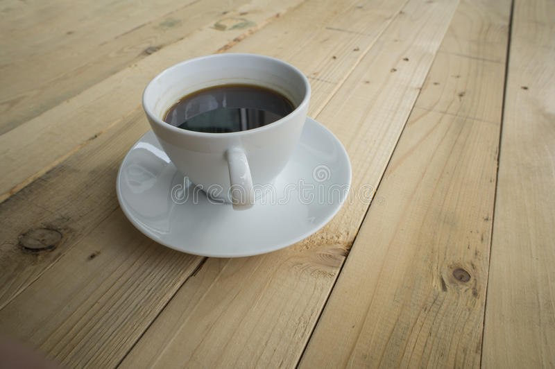 Tasse Kaffee-Morgen stockfoto