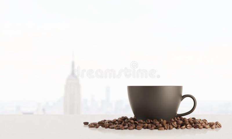 Tasse Kaffee in New York stock abbildung