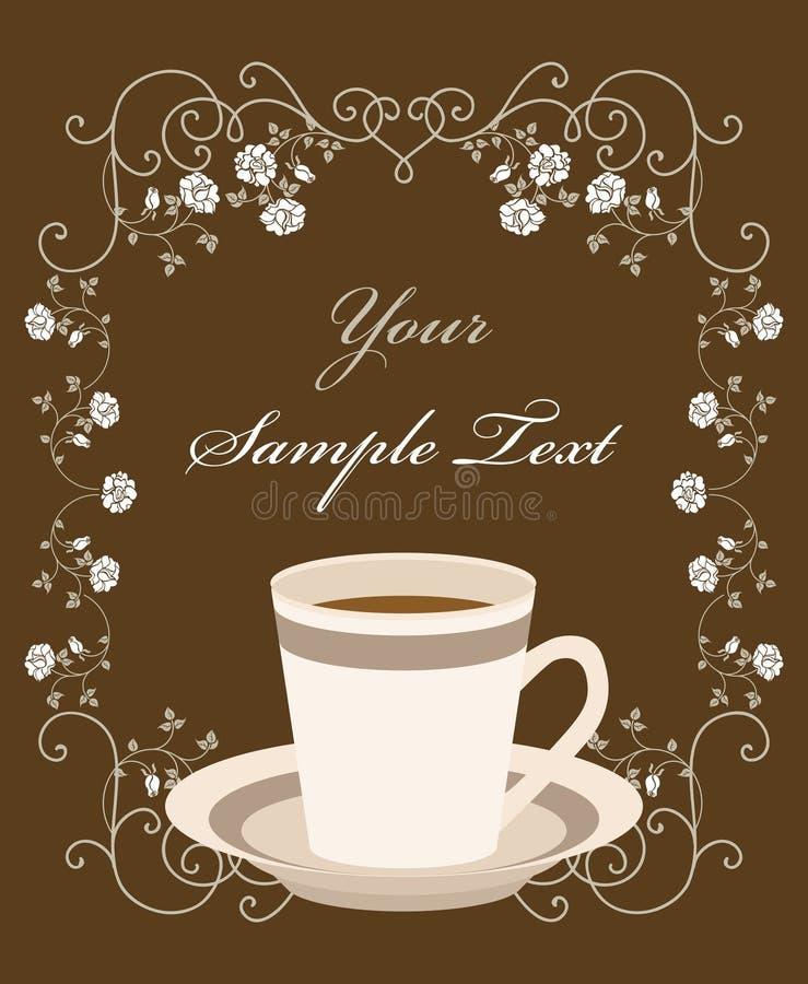 Tasse Kaffee. Retro- Feld vektor abbildung