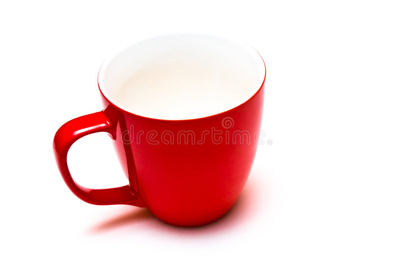 Tasse rouge photographie stock