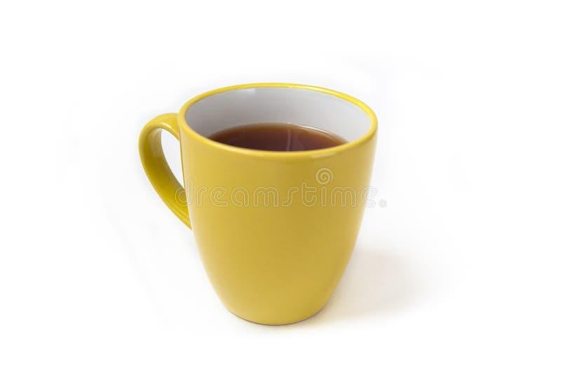 Tasse Tee auf einem weißen Hintergrund stockbilder